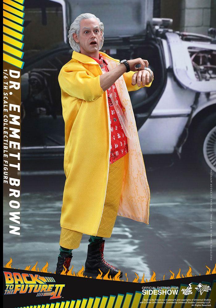 Imagen de Regreso al Futuro II Figura Movie Masterpiece 1/6 Dr Emmett Brown 30 cm