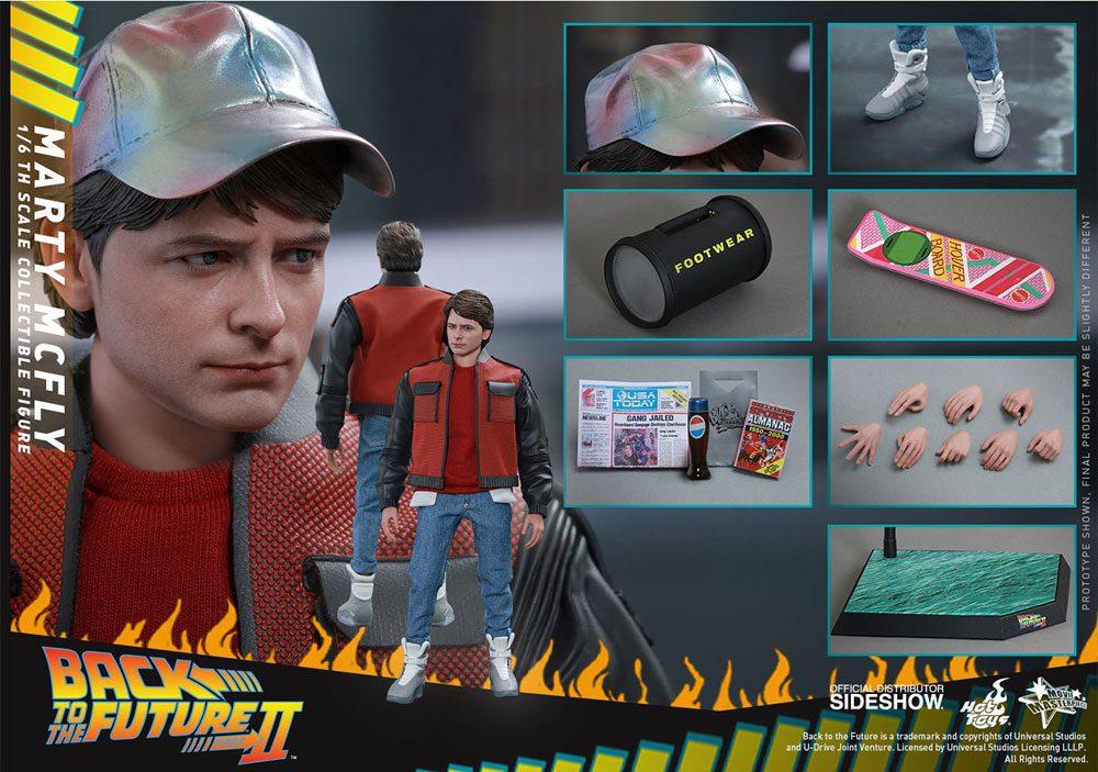 Imagen de Regreso al Futuro II Figura Movie Masterpiece 1/6 Marty McFly 28 cm