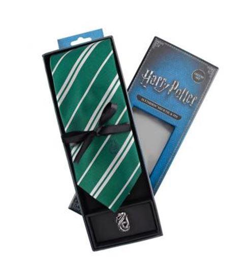 Foto de Harry Potter Set Corbata y Pin Slytherin