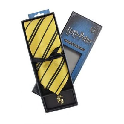 Imagen de Harry Potter Set Corbata y Pin Hufflepuff