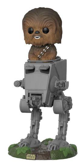 Foto de Star Wars POP! Deluxe Vinyl Figura Chewbacca with AT-ST 10 cm