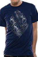 Imagen de Harry Potter Camiseta Unisex Hogwarts Silver Foil Crest Talla M