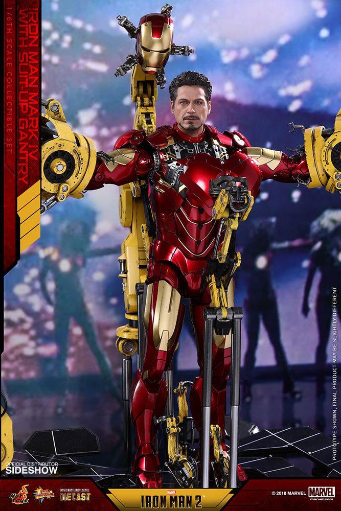 Imagen de Iron Man 2 Figura Diecast Movie Masterpiece 1/6 Iron Man Mark IV & Suit-up Gantry 32 cm