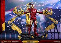 Foto de Iron Man 2 Figura Diecast Movie Masterpiece 1/6 Iron Man Mark IV & Suit-up Gantry 32 cm