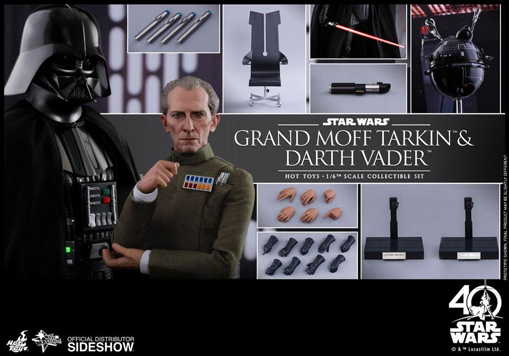 Imagen de Star Wars Episode IV Pack de 2 Figuras Movie Masterpiece 1/6 Vader & Tarkin