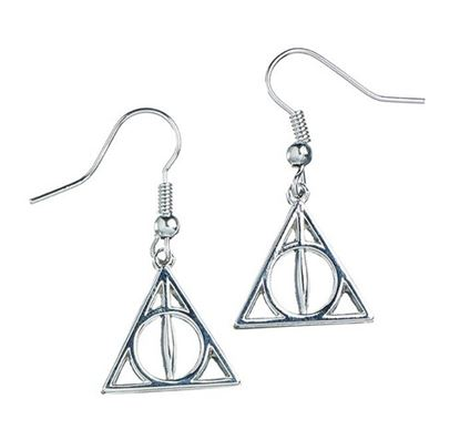 Imagen de Harry Potter Pendientes Deathly Hallows