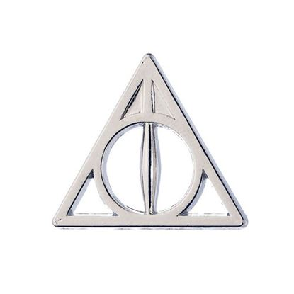 Imagen de Harry Potter Pin Deathly Hallows Plateado