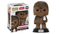 Imagen de Star Wars Episode VIII POP! Vinyl Cabezón Chewbacca & Porg Flocked 9 cm