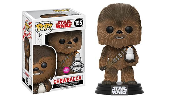 Foto de Star Wars Episode VIII POP! Vinyl Cabezón Chewbacca & Porg Flocked 9 cm