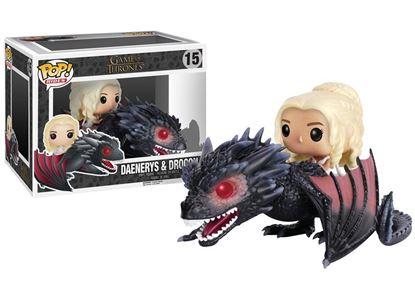 Imagen de Juego de Tronos POP! Rides Vinyl Figura Daenerys & Drogon 15 cm