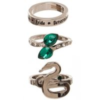 Foto de Harry Potter Set 3 Anillos Slytherin