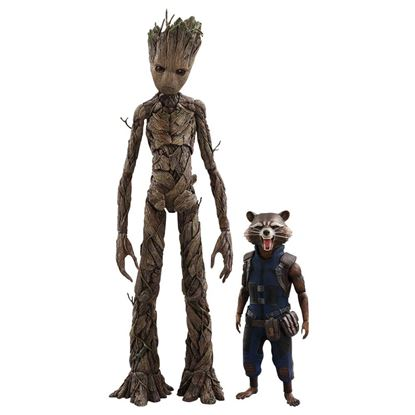 Imagen de Vengadores Infinity War Pack de 2 Figuras Movie Masterpiece 1/6 Groot & Rocket 16 - 30 cm