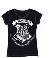 Imagen de Harry Potter Camiseta Chica Hogwarts Crest Negra Talla L