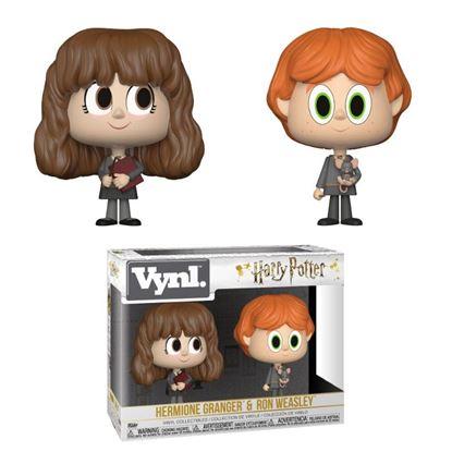 Imagen de Harry Potter Pack de 2 VYNL Vinyl Figuras Ron & Hermione 10 cm
