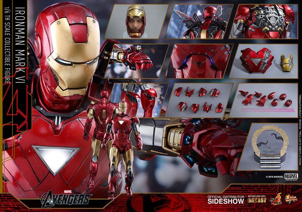 Imagen de Marvel Los Vengadores Figura Movie Masterpiece Diecast 1/6 Iron Man Mark VI 32 cm
