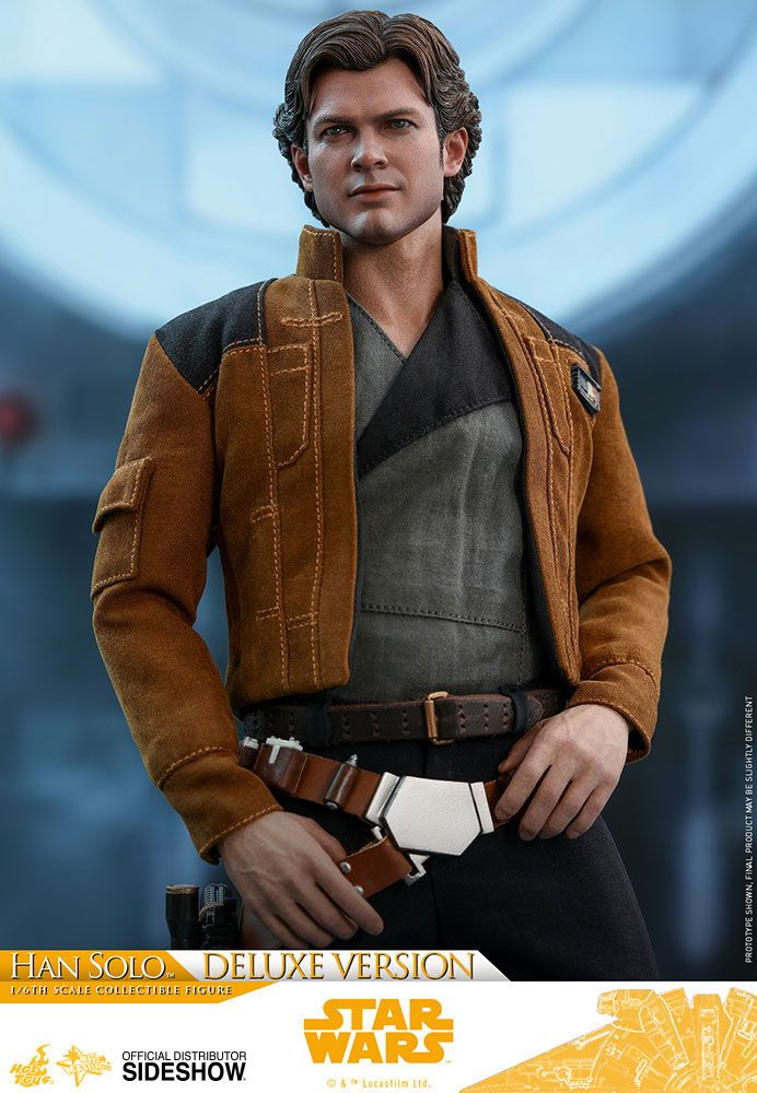 Imagen de Star Wars Solo Figura Movie Masterpiece 1/6 Han Solo Deluxe Version 31 cm