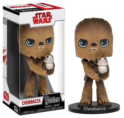 Imagen de Star Wars Episode VIII Wacky Wobbler Cabezón Chewbacca 15 cm