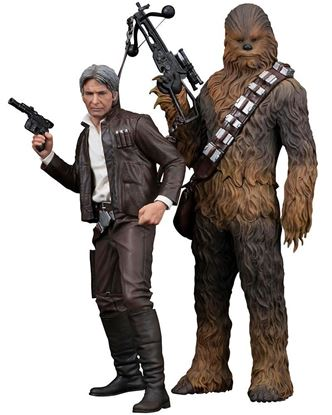 Imagen de Star Wars Episode VII Pack de 2 Estatuas 1/10 ARTFX+ Han Solo & Chewbacca 20 - 23 cm