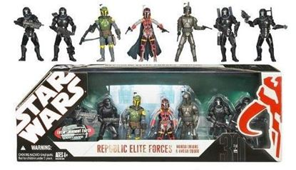 Imagen de Star Wars Republic Elite Forces Mandalorians & Omega Squad Figuras 10 cm