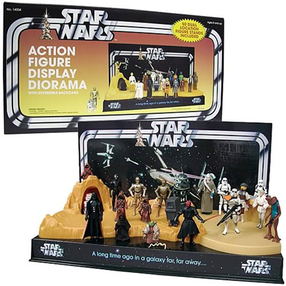 Imagen de Star Wars Action Figure Display Diorama Set