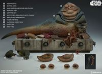 Foto de Star Wars Episode VI Figura 1/6 Jabba the Hutt & Throne Deluxe 34 cm