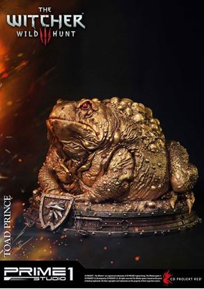 Imagen de Witcher 3 Hearts of Stone Estatua Toad Prince of Oxenfurt Gold Ver. 34 cm