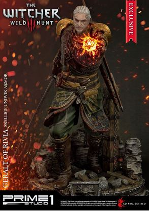 Imagen de Witcher 3 Wild Hunt Estatua 1/4 Geralt of Rivia Skellige Undvik Armor Exclusive 58 cm