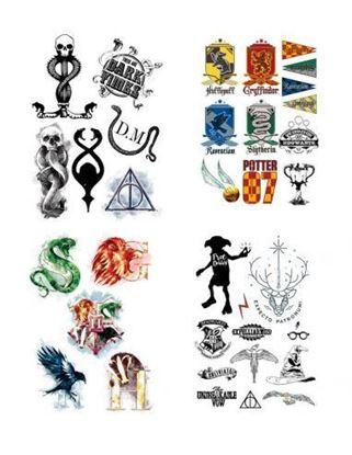 Imagen de Harry Potter Set 35 Tatuajes Temporales