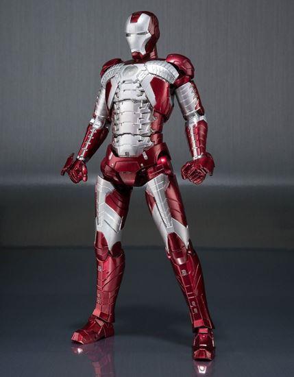 Foto de Iron Man 2 Figura S.H. Figuarts Iron Man Mark V & Hall of Armor Set 15 cm