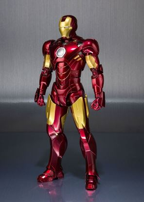 Imagen de Iron Man 2 Figura S.H. Figuarts Iron Man Mark IV & Hall of Armor Set Tamashii Web EX 14 cm