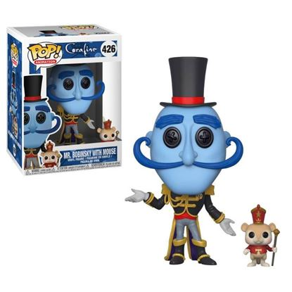 Imagen de Coraline Figura POP! Movies Vinyl Mr. Bobinsky with Mouse 9 cm.