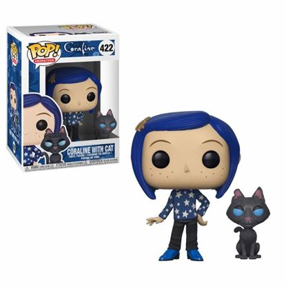 Imagen de Coraline Figura POP! Movies Vinyl Coraline with Cat 9 cm.