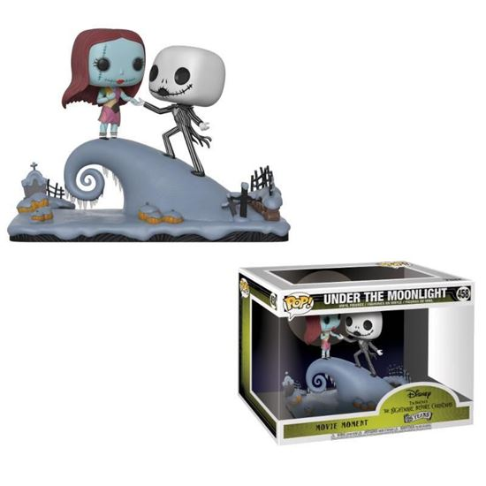 Foto de Pesadilla antes de Navidad Pack de 2 POP! Movie Moments Vinyl Cabezón Jack & Sally 9 cm