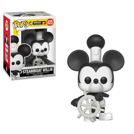 Foto de Mickey Mouse 90th Anniversary Figura POP! Disney Vinyl Steamboat Willie 9 cm