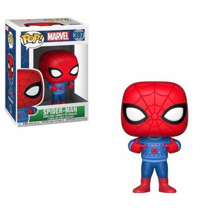 Imagen de Marvel Comics POP! Marvel Holiday Navidad Vinyl Cabezón Spider-Man (Ugly Sweater) 9 cm