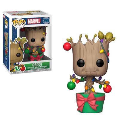 Imagen de Marvel Comics POP! Marvel Holiday Navidad Vinyl Cabezón Groot (Lights & Ornaments) 9 cm