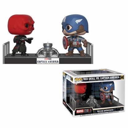 Imagen de Marvel Pack de 2 POP! Movie Moments Vinyl Figuras Capitán América & Red Skull 9 cm