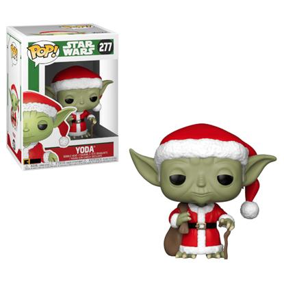 Imagen de Star Wars POP! Vinyl Cabezón Holiday Navidad Santa Yoda 9 cm.