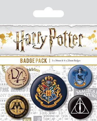 Imagen de Set 5 Chapas Harry Potter