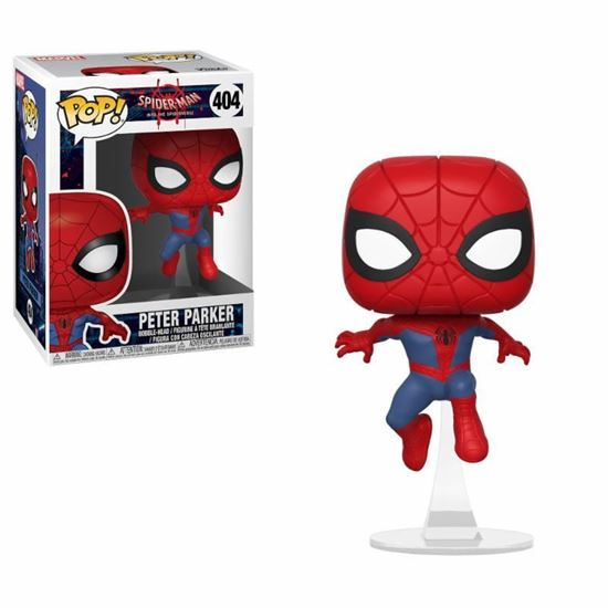 Foto de Spider-Man Animated POP! Marvel Vinyl Figura Peter Parker 9 cm.