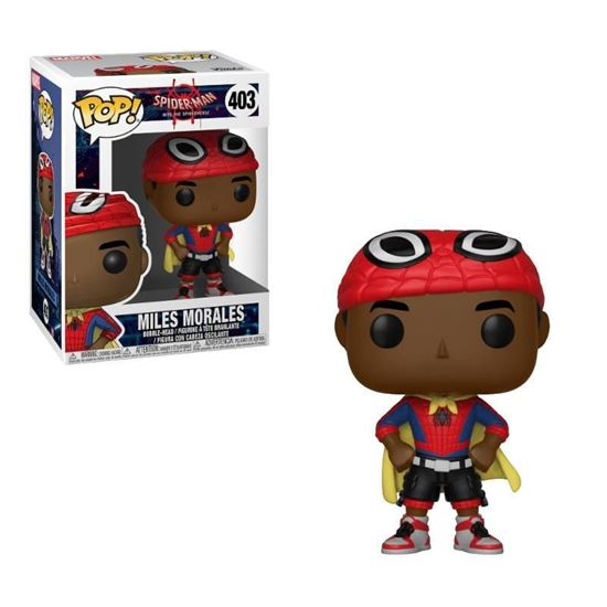 Foto de Spider-Man Animated POP! Marvel Vinyl Figura Miles with Cape 9 cm.