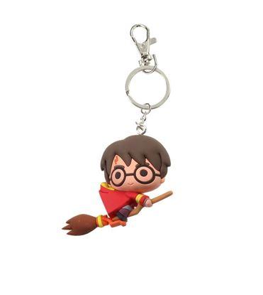 Imagen de Harry Potter Llavero caucho Harry Potter en Escoba 3D 7 cm