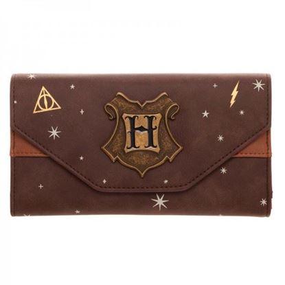 Imagen de Cartera Monedero Hogwarts Marrón - Harry Potter