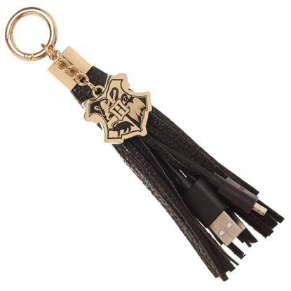 Imagen de Llavero con cable de carga USB Hogwarts - Harry Potter