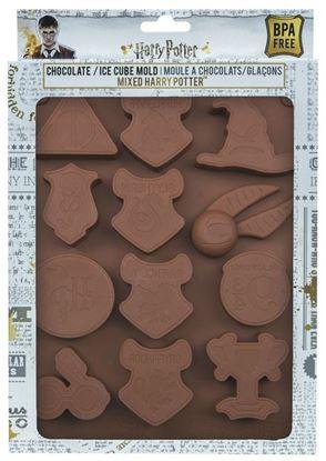 Imagen de Molde para Chocolate / Hielo Logos Harry Potter