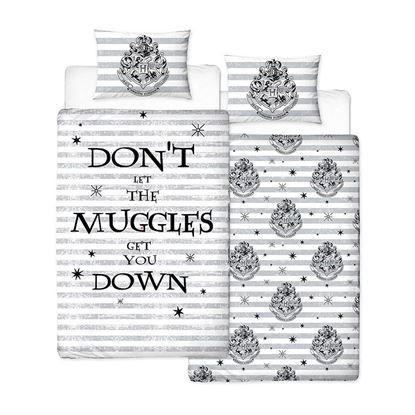 Imagen de Funda Nórdica Individual Reversible Muggles - Harry Potter