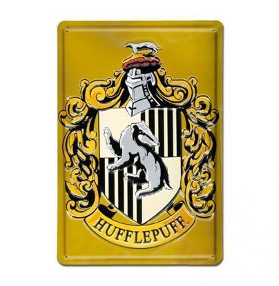 "Imagen de Placa Metálica 3D ""Hufflepuff"" 20 x 30 cm - Harry Potter"
