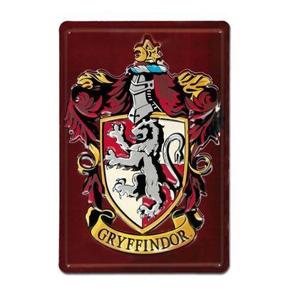 """Imagen de Placa Metálica 3D """"Gryffindor"""" 20 x 30 cm - Harry Potter"""