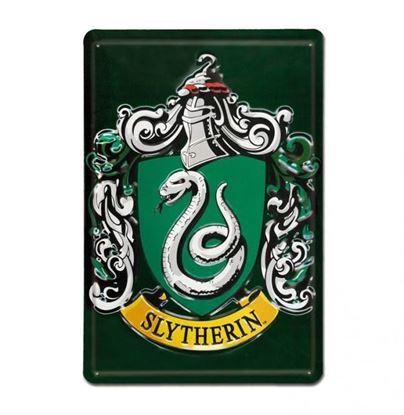 """Imagen de Placa Metálica 3D """"Slytherin"""" 20 x 30 cm - Harry Potter"""