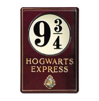 """Imagen de Placa Metálica 3D """"Andén 9 3/4"""" 20 x 30 cm - Harry Potter"""